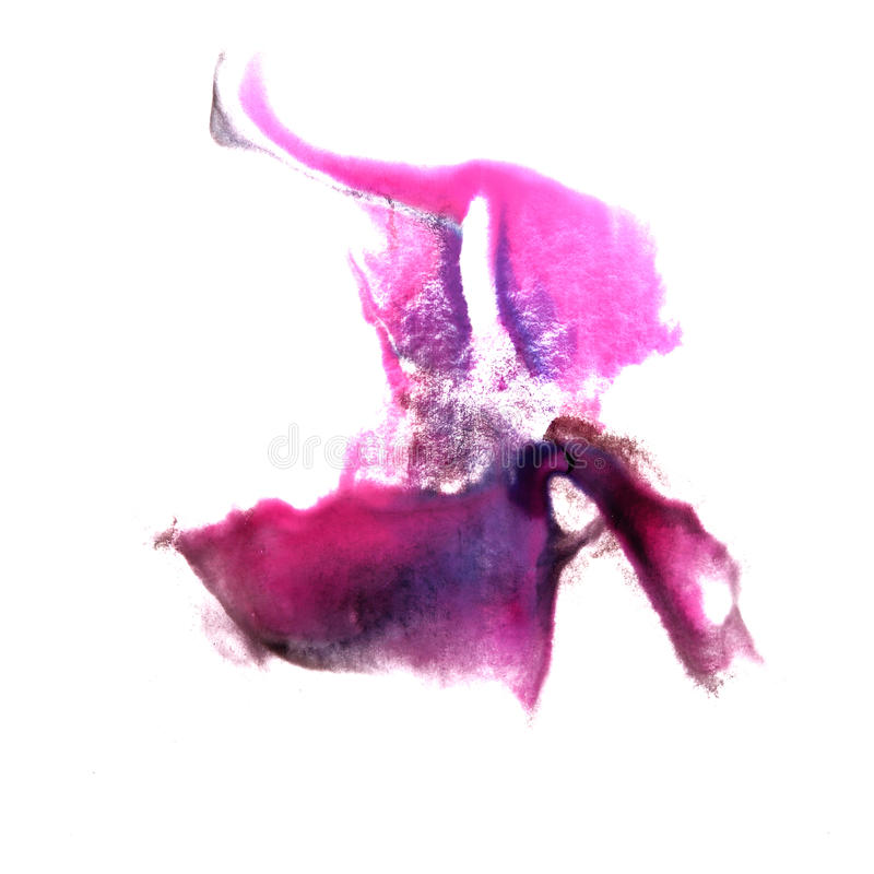 Art Violet, pinkwatercolor ink paint blob royalty free illustration