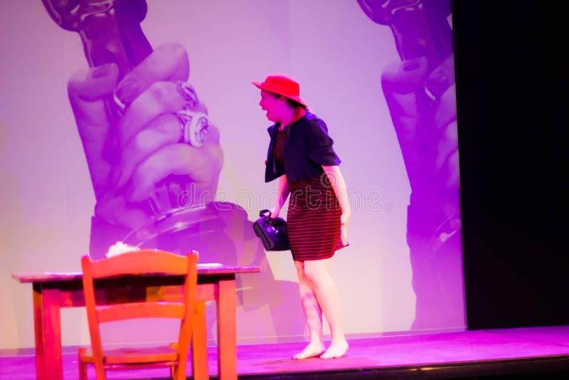 Art Voice Academy - centro de aprendizado de nível elevado para a escola da mostra de música e o teatro em Castelfranco Vêneto, I fotografia de stock