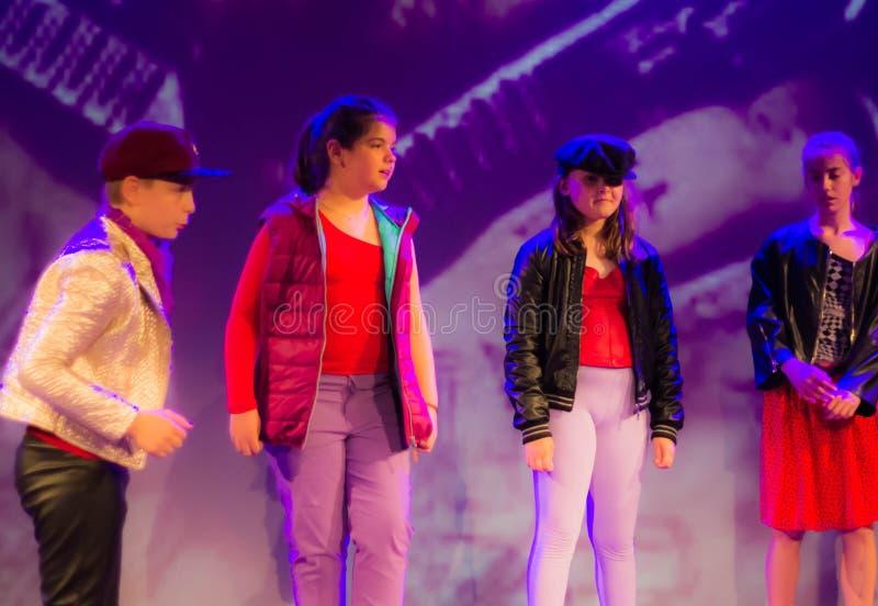 Art Voice Academy - centro de formación de alto nivel para la escuela de la demostración de la música y el teatro en Castelfranco imagen de archivo