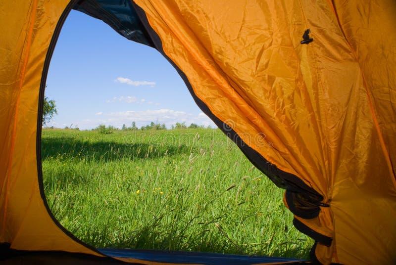 Art von einem Zelt stockbild