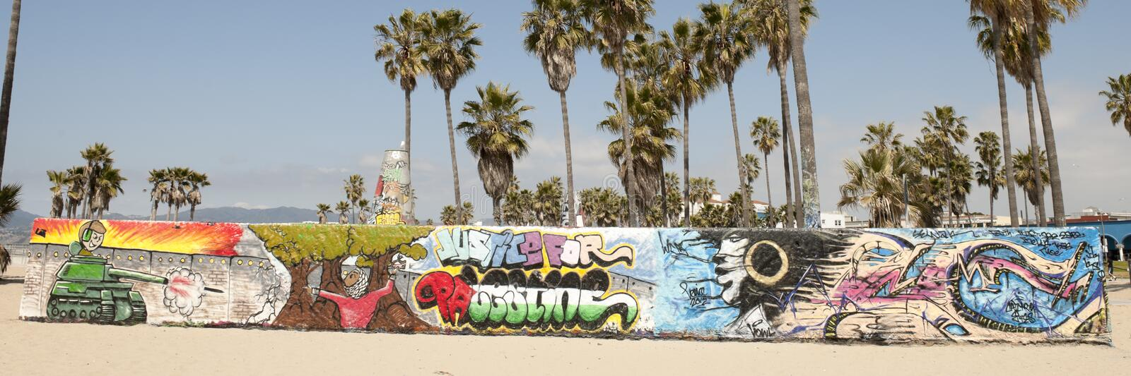 Art Walls On Venice Beach, Los Angeles Royalty Free Stock Image