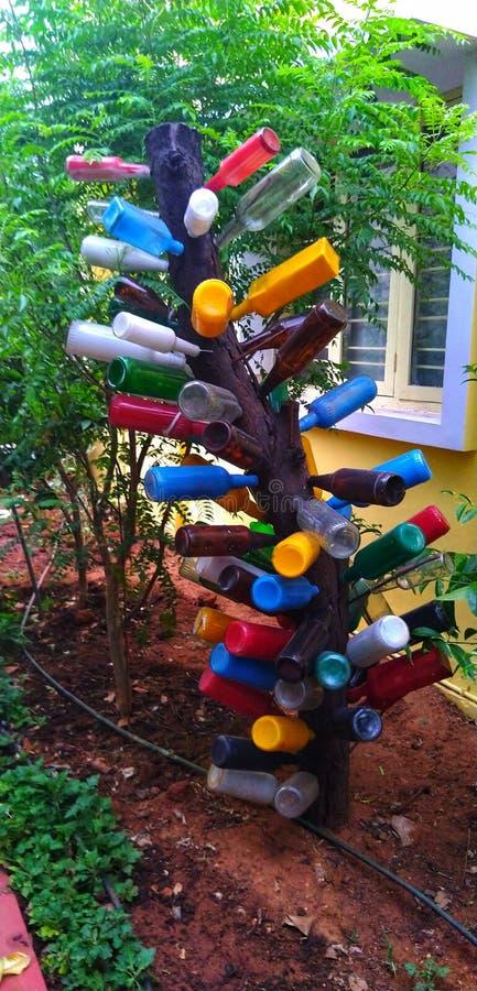 Art from waste bottles stock photos