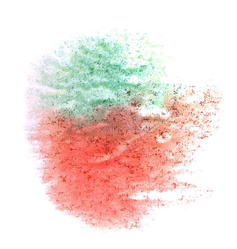 Art watercolor ink paint blob watercolour red,. Green splash colorful stain isolated on white background texture royalty free stock photos