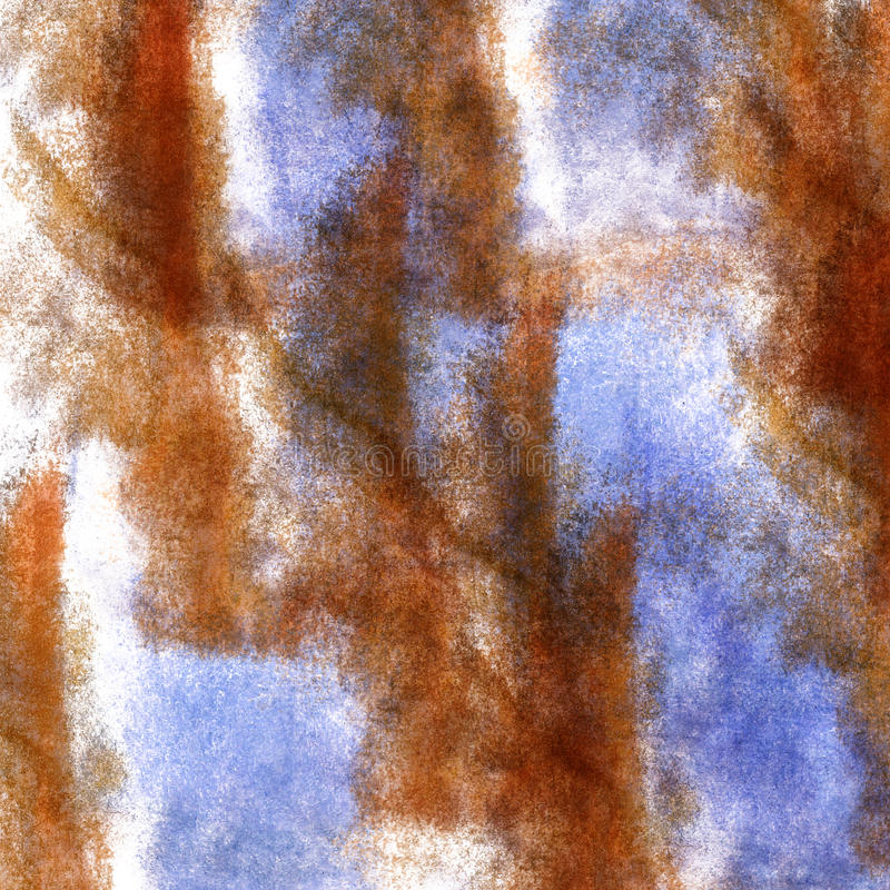 Art watercolor ink paint blob watercolour splash. Colorful stain brown, blue isolated on white background texture royalty free stock images