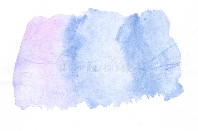 Blue and purple watercolor paint background, lettering scrapbook sketch. Art watercolor paint texture and background. Hand drawn beautiful blue color vector illustration