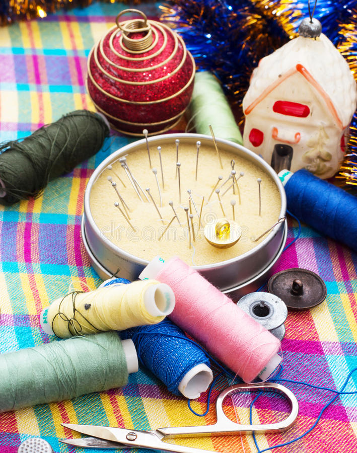 Art of weaving and embroidering royalty free stock images