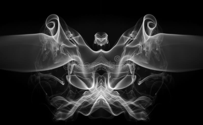 Art of white smoke abstract on black background for desing. Beautiful art of white smoke abstract on black background for desing stock images