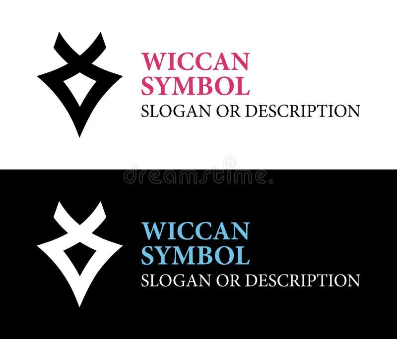 Art Wiccan-Symbol - Vektor-Emblem stock abbildung