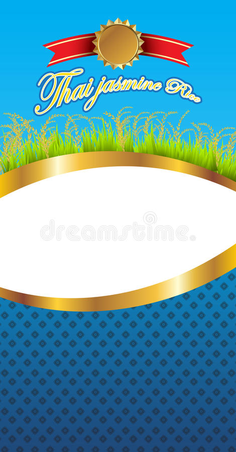 Download Art Work Of Thai Jasmine Rice Package Stock Illustration - Image: 24577293