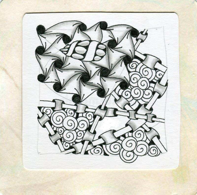 Art Zentangle stock image