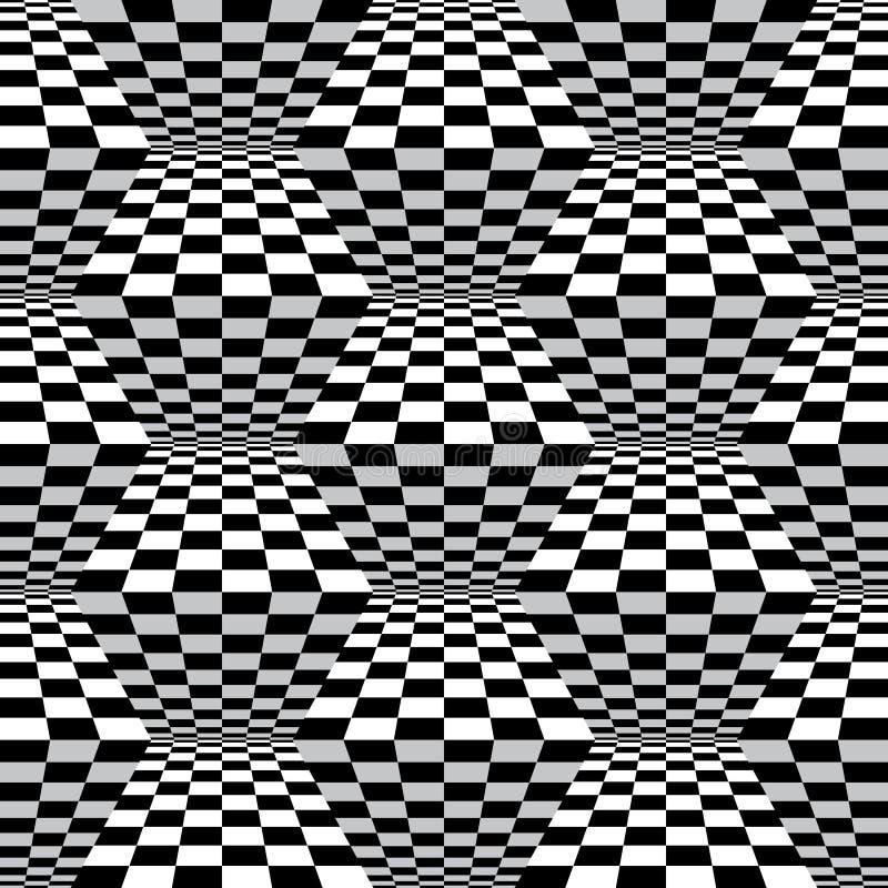 Art Zigzag Checks Pattern de Op. Sys. ilustración del vector