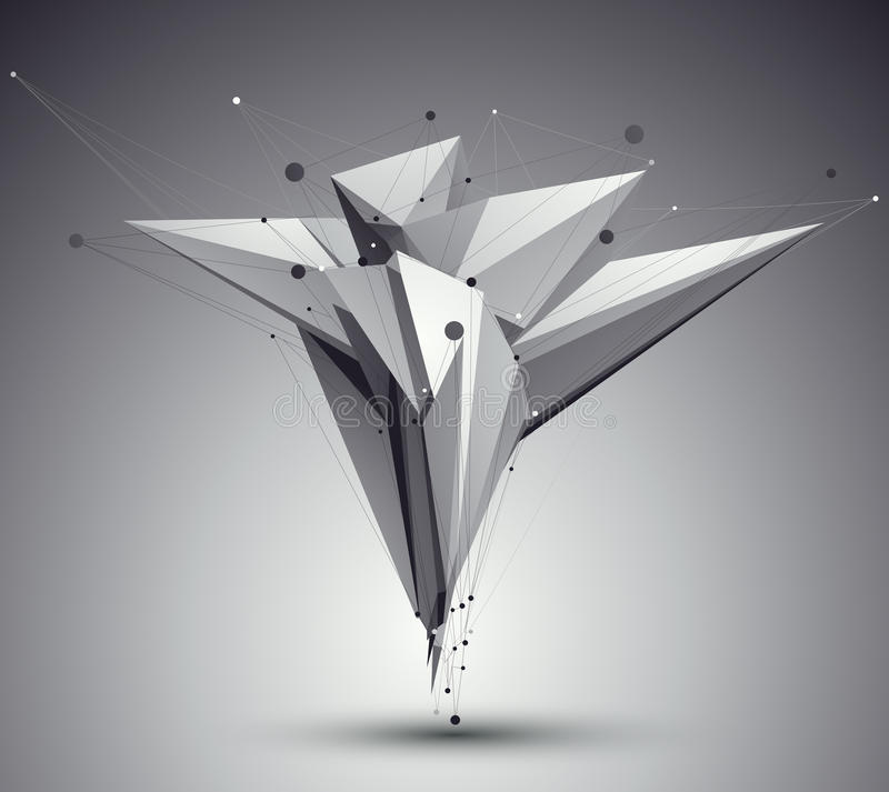 Art-Zusammenfassungshintergrund der Masche 3D moderner, Origami futuristisches tem lizenzfreie abbildung