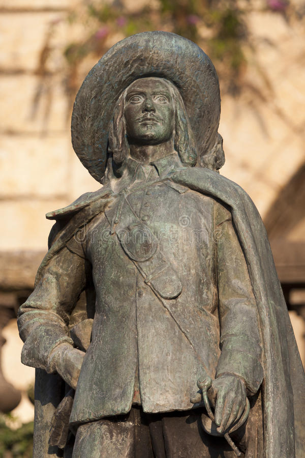 artagnan auch D staty royaltyfri bild
