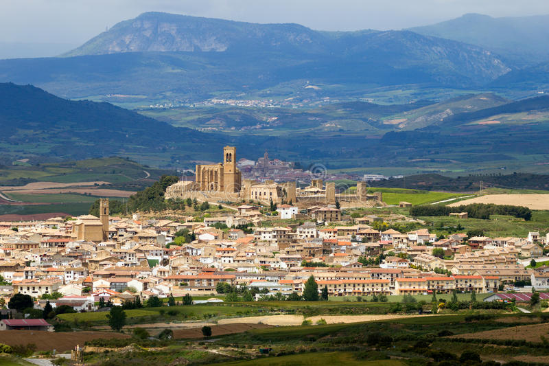 Artajona landscape Spain stock photo