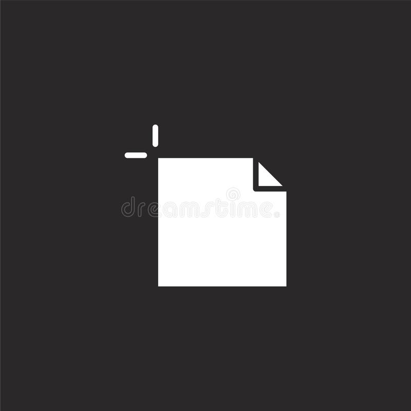 Artboard icon. Filled artboard icon for website design and mobile, app development. artboard icon from filled design collection. Isolated on black background vector illustration
