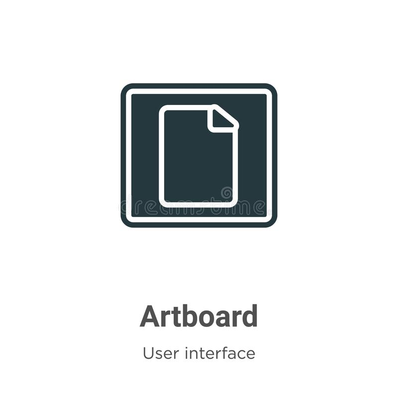 Artboard vector icon on white background. Flat vector artboard icon symbol sign from modern user interface collection for mobile. Concept and web apps design royalty free illustration