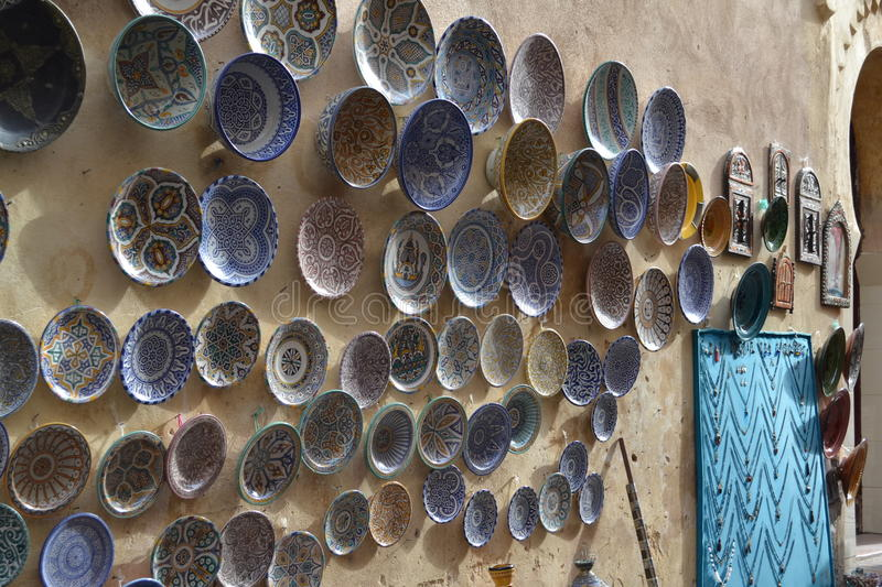 Artcrafts in Fes stock image