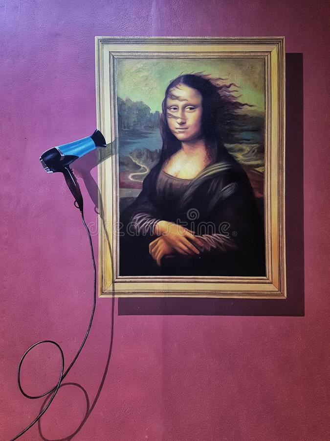 Artdeco Monalisa стоковое изображение