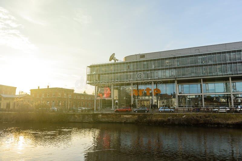 Arte电视频道总部在史特拉斯堡 库存图片