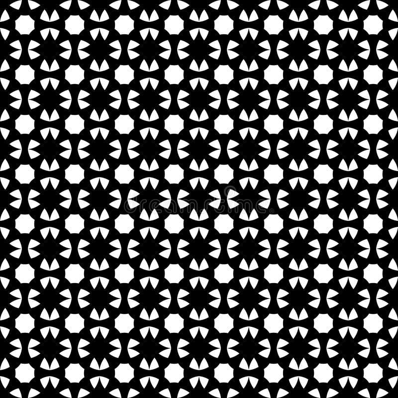 Arte árabe islâmica tribal étnica geométrica sem emenda do fundo do sumário do projeto do vetor do teste padrão preto e branco ilustração do vetor