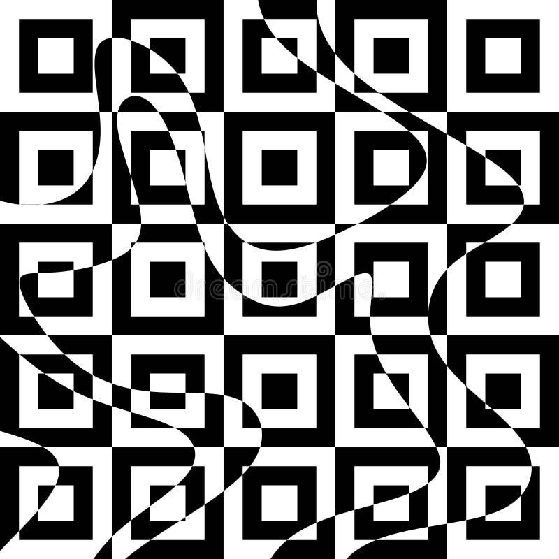 Arte óptica ilustração do vetor