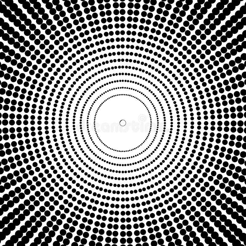 Arte óptico. Ilusión abstracta geométrica en blanco y negro ilustración del vector