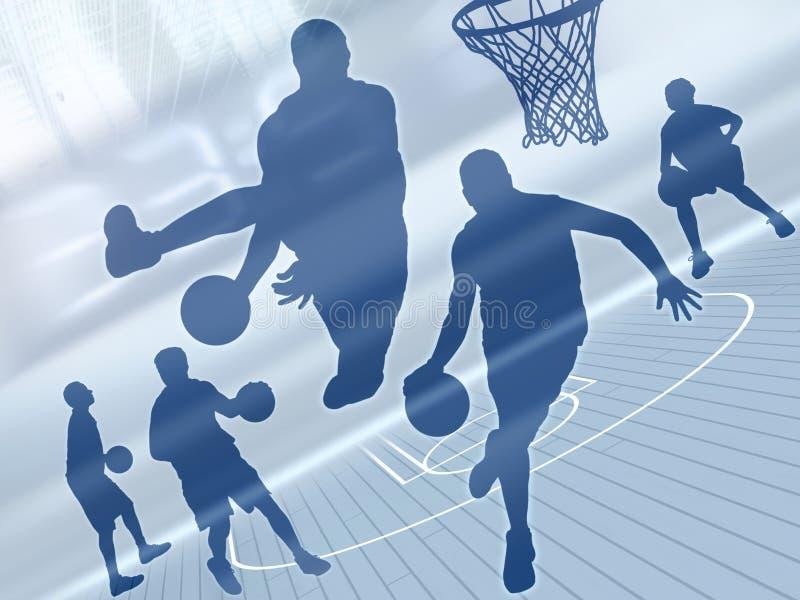 Arte 2 do basquetebol ilustração do vetor