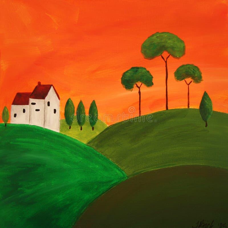 Arte 4 de Tuscan ilustração stock