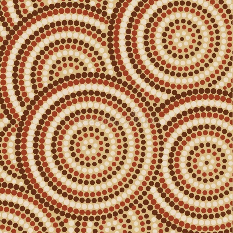 Arte aborígene abstrata ilustração royalty free