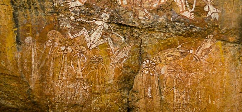 Arte aborígene da rocha imagem de stock