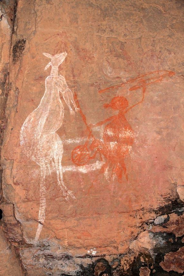 Arte aborígene da rocha imagens de stock royalty free