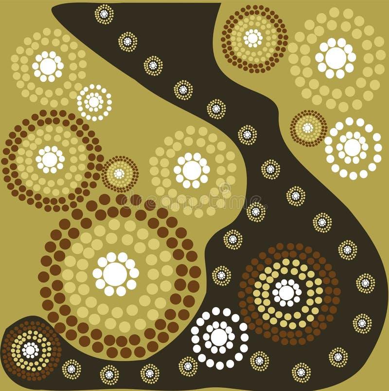 Arte aborigen ilustración del vector