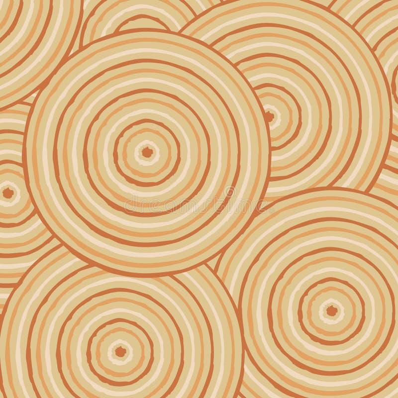 Arte aborigen abstracto stock de ilustración