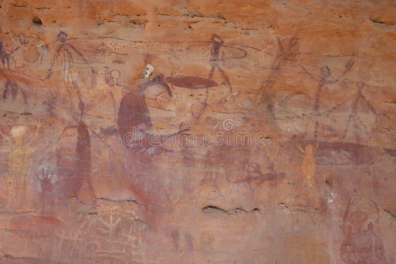 Arte aborigen de la roca fotos de archivo libres de regalías