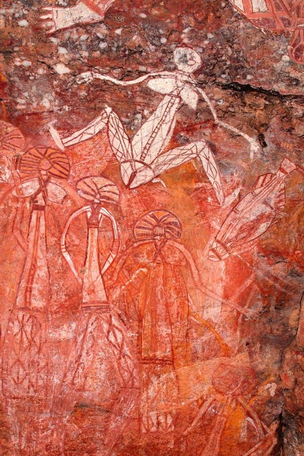 Arte aborigen de la roca imagen de archivo libre de regalías