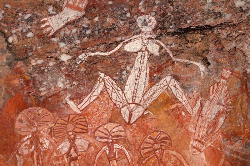 Arte aborigen de la roca, Australia imagen de archivo libre de regalías