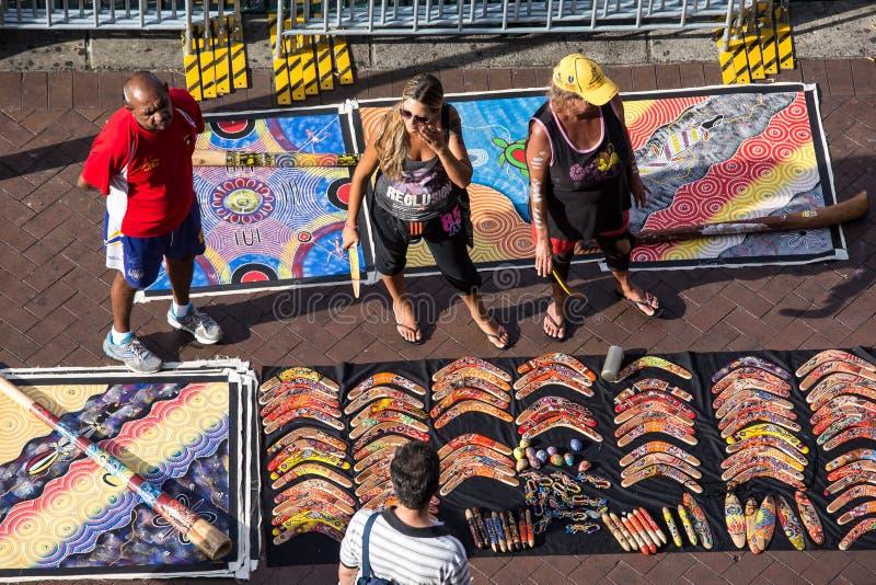 Arte aborigen para la venta imagen de archivo libre de regalías