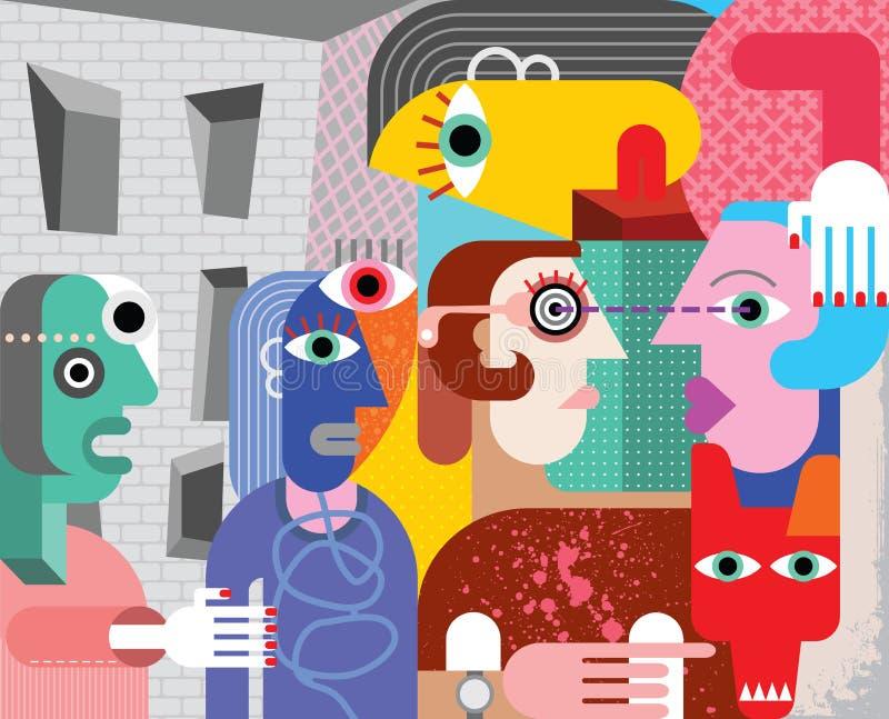 Arte abstracto ilustración del vector