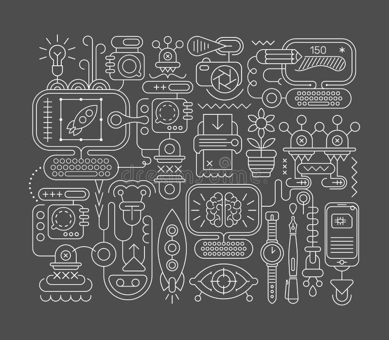 Arte abstracto del diseño gráfico ilustración del vector