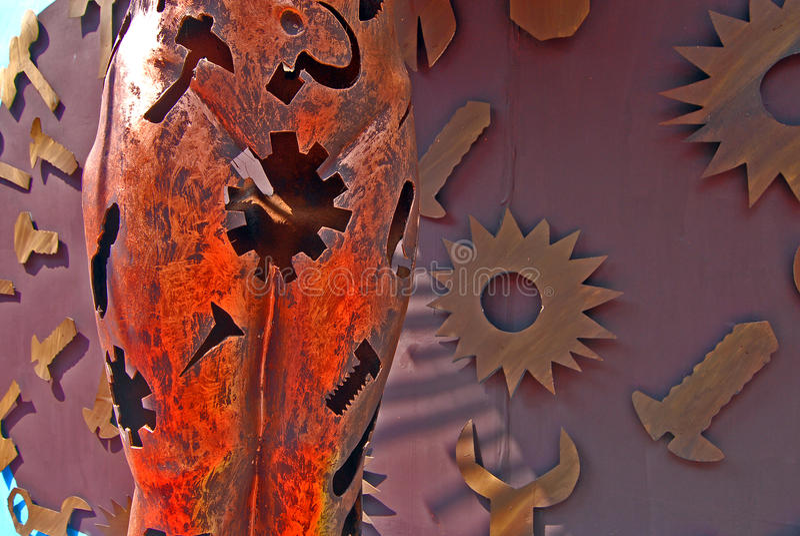 Arte Abstracto Durante El Festival De Durga Foto de archivo libre de regalías