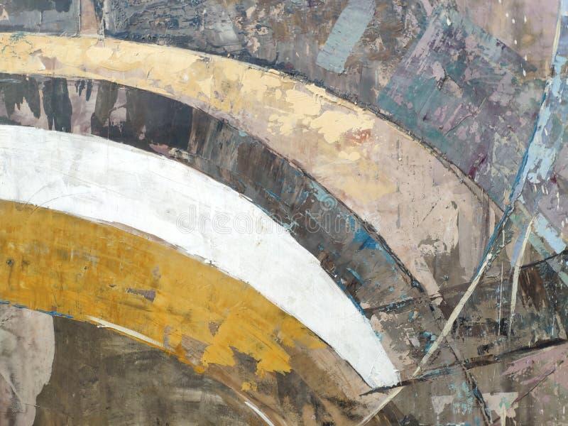 Arte abstracto moderno del fondo o del concepto, rayas coloridas fotos de archivo