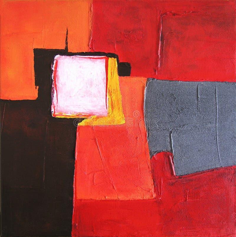 Arte abstracto moderno - pintura - fondo stock de ilustración