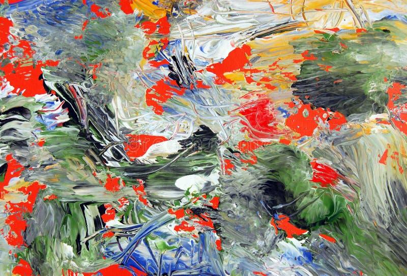 Arte abstracto. Textura pintada del fondo imagen de archivo libre de regalías
