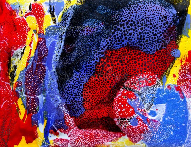 Arte abstrata Bau-xi Huang da natureza tropical foto de stock