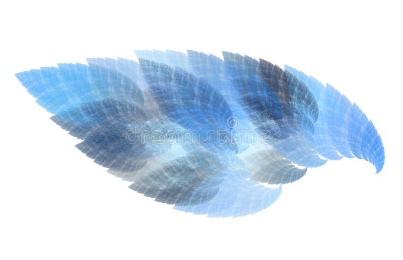 Arte abstrata da chama azul ilustração royalty free