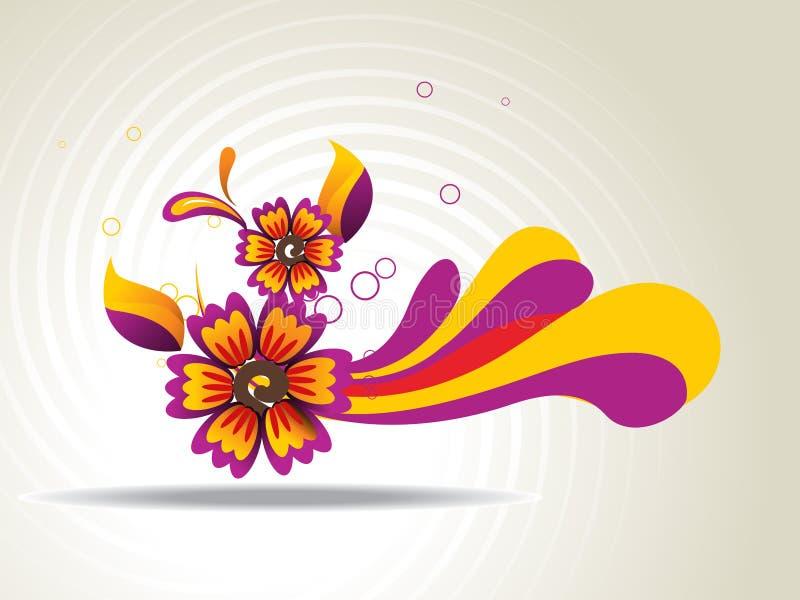 Arte abstrata da flor ilustração royalty free
