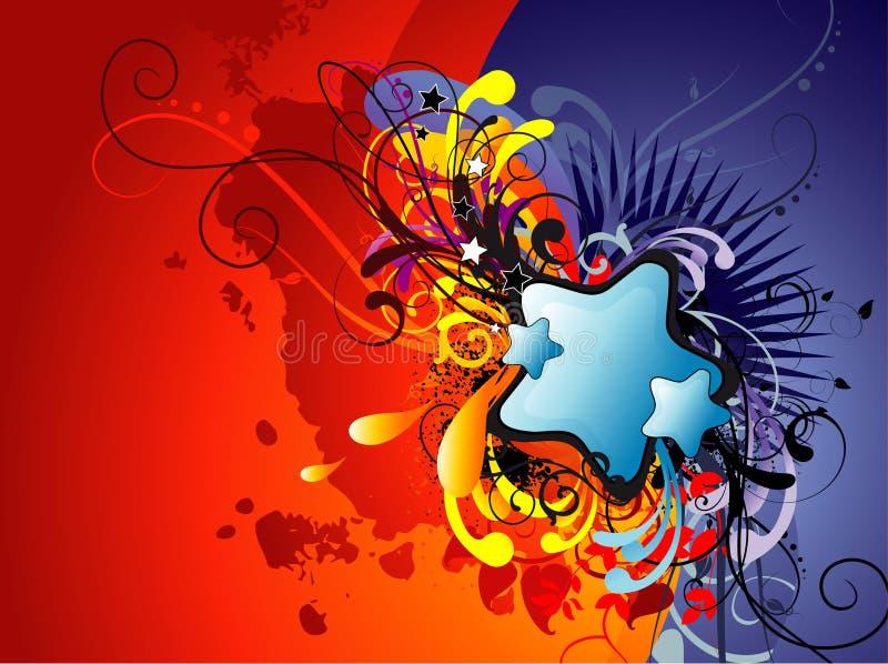 Arte abstrata da lareira ilustração do vetor
