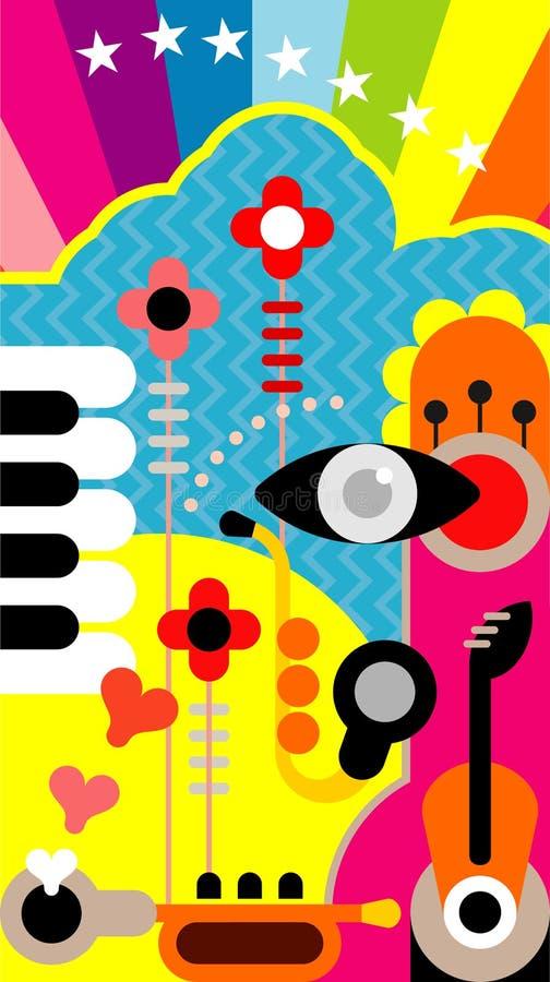 Arte abstrata da música ilustração do vetor