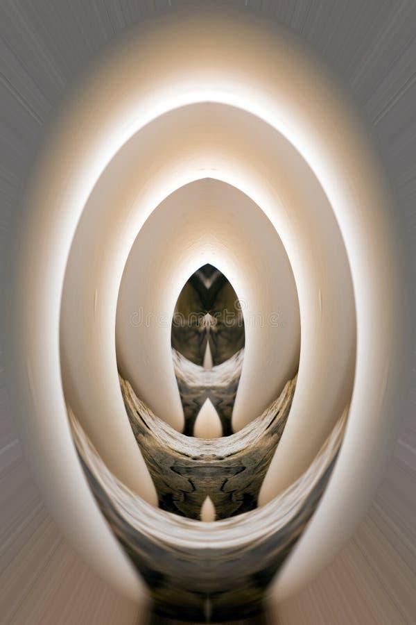 Arte abstrata de Digitas - túnel do ovo imagens de stock royalty free