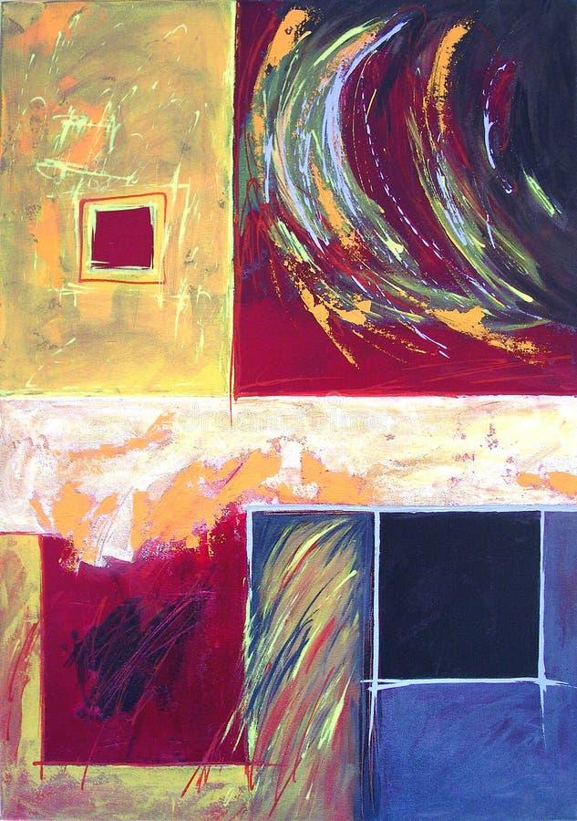 Arte abstrata moderna - estilo expressivo da pintura ilustração do vetor